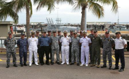 Commanding Officers from regional navy ships engaged in international Exercise KAKADU 2014
